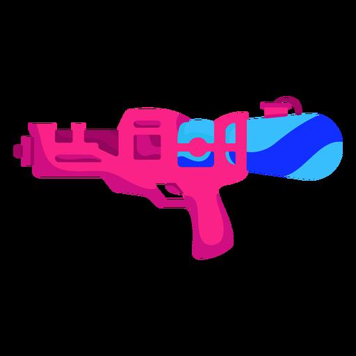 Pistola de agua rosa plana