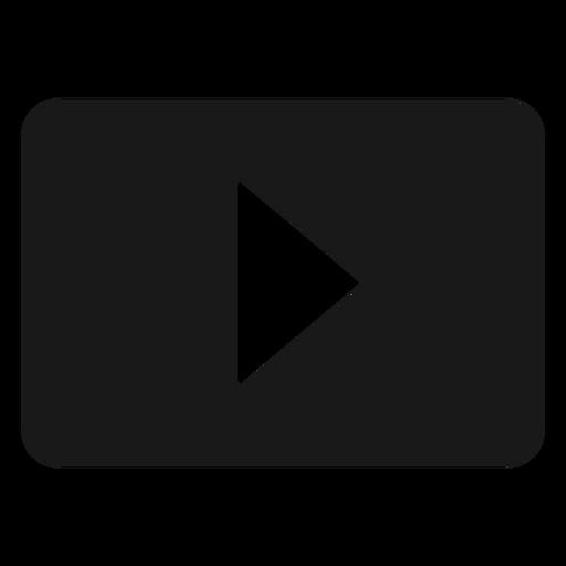 Icono de reproducción negro