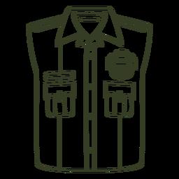 Curso uniforme da polícia