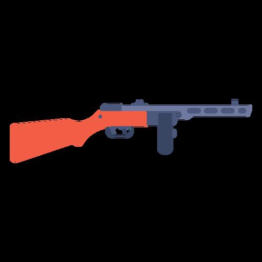 Ppsh 41 machine gun flat Transparent PNG