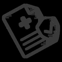 Prescription black and white icon
