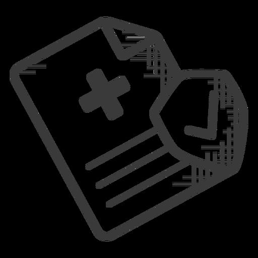 Icono de prescripción blanco y negro