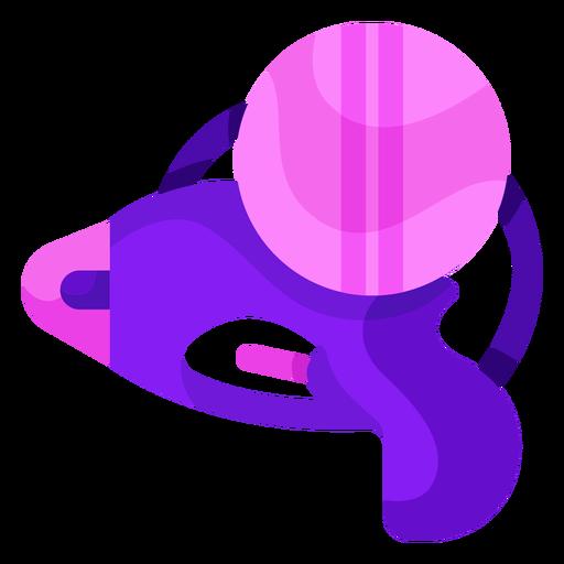 Purple water gun flat