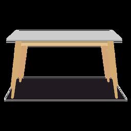 Ilustración de mesa rectangular