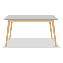 Rectangular table illustration