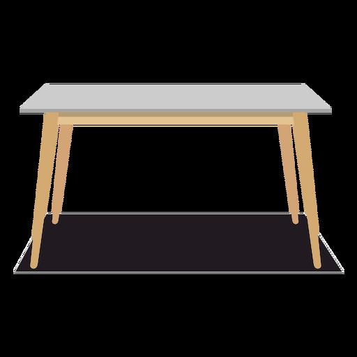 Rectangular table illustration