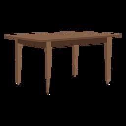 Ilustración de mesa de madera rectangular