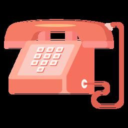 Ilustración de teléfono rojo