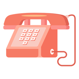 Red telephone illustration