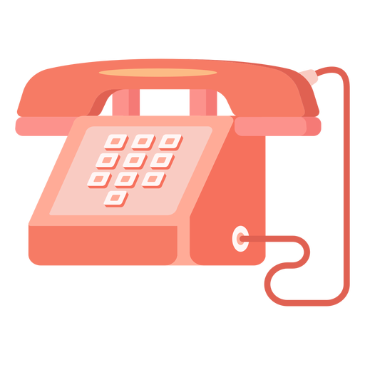 Red telephone illustration Transparent PNG