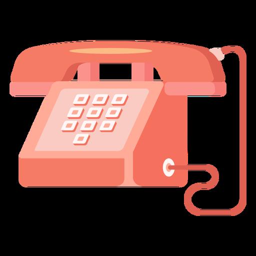 Red telephone illustration