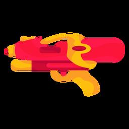 Pistola de água vermelha plana