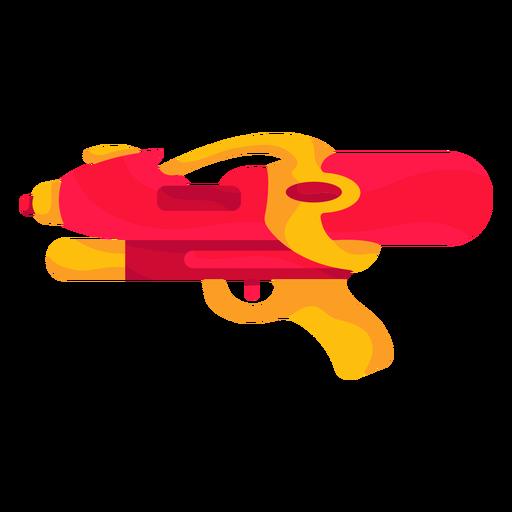 Pistola de agua roja plana