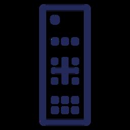 Ícone de traçado do controle remoto