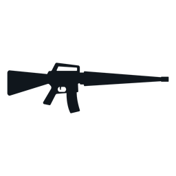 Rifle weapon silhouette