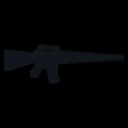 Silueta de arma rifle