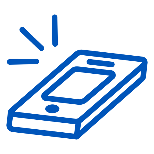 Ringing cellphone stroke icon Transparent PNG