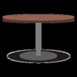 Ilustración de mesa redonda con una pata