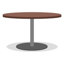 Round one leg table illustration