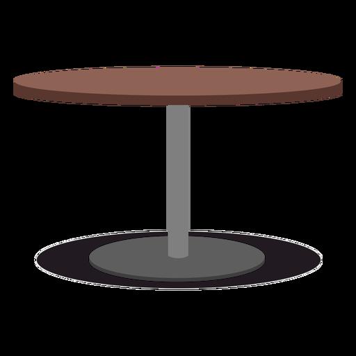 Ilustração da mesa redonda com uma perna