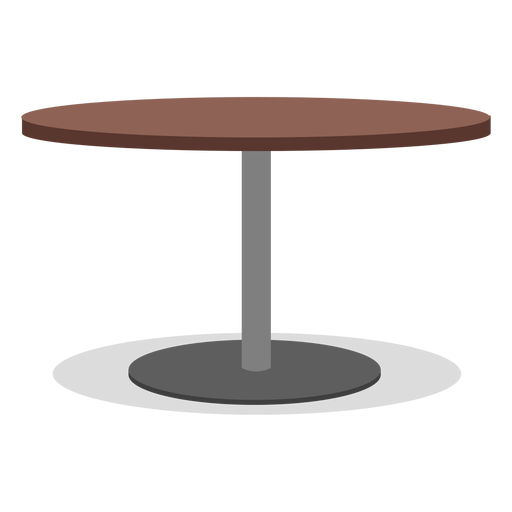Round one leg table illustration