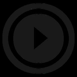 Icono de juego redondo negro
