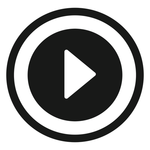 Round play icon black