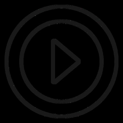 Round play icon stroke