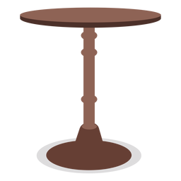 Round wood table illustration