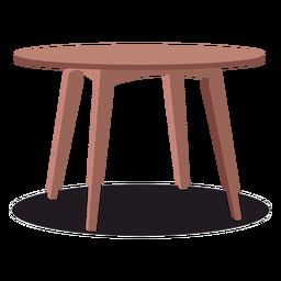 Ilustración de mesa de madera redonda