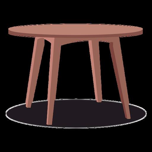 Round wooden table illustration - Transparent PNG & SVG ...