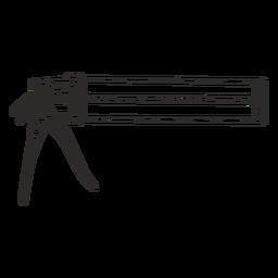 Pistola selladora de silicona dibujada a mano.