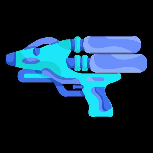 Pistola de agua azul cielo plana Transparent PNG