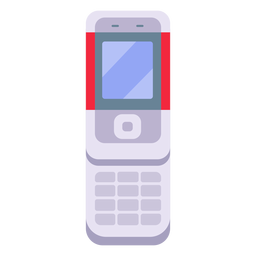 Slider phone illustration cellphone