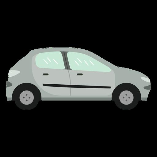 Piso pequeño coche gris
