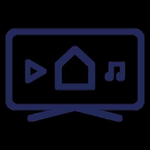 Icono de televisión inteligente