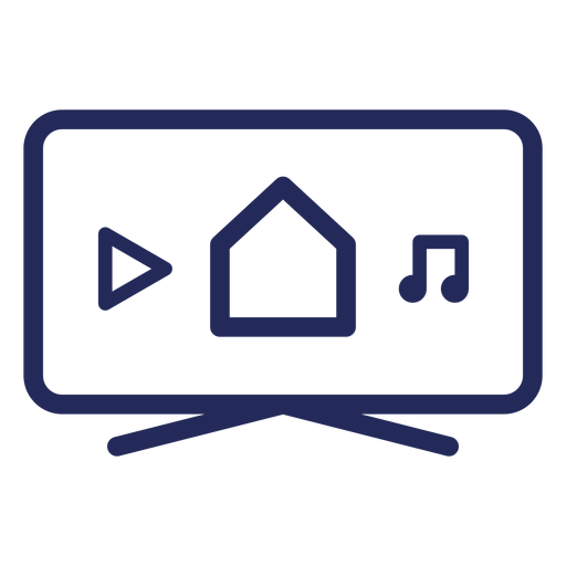 Smart television icon Transparent PNG