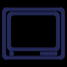 Ícone de traço de televisão quadrado