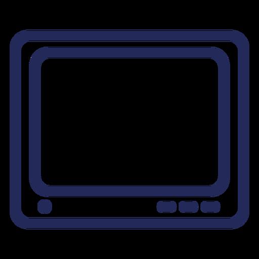 Icono de trazo de televisión cuadrado
