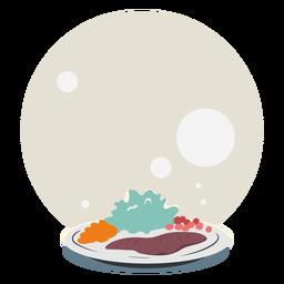 Ilustración de ensalada de bistec