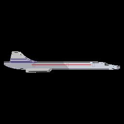 Ilustración de jet supersónico