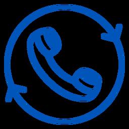 Icono de trazo del auricular del teléfono