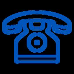 Icono de trazo telefónico