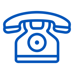Telephone stroke icon