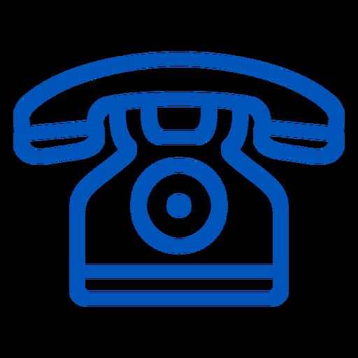 Icono de trazo de teléfono