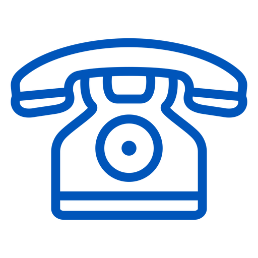 Telephone stroke icon Transparent PNG
