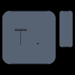Ícone de controle remoto de caixa de televisão