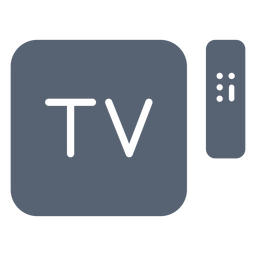 Television box remote control icon