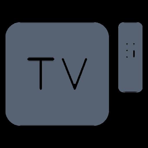 Television box remote control icon
