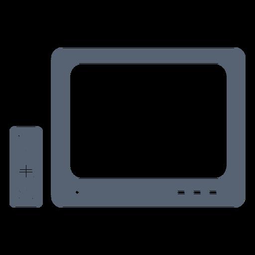 Icono de control remoto de televisión